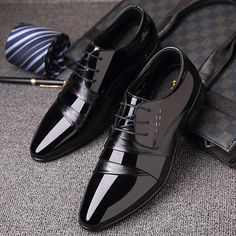 Misalwa Luxury Brand Patent Leather Men Business Wedding Dress Shoes Lace Up Breathable Oxfords Shoes Pointed Toe Zapatos Hombre Fashion Mode, Mens Fashion Shoes, Shoes Men, Emo Fashion, Men Dress Shoes, Black Dress Shoes, Fashion Boots, Street Fashion, Men's Wedding Shoes