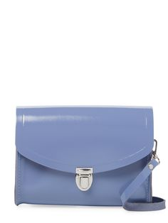 Solid Leather Crossbody Bag by The Cambridge Satchel Company at Gilt Shoulder Strap, Shoulder Bags, Cambridge Satchel, Blue Bags, Leather Crossbody Bag, Saddle Bags, Autumn Fashion, Logo Design, Handbags