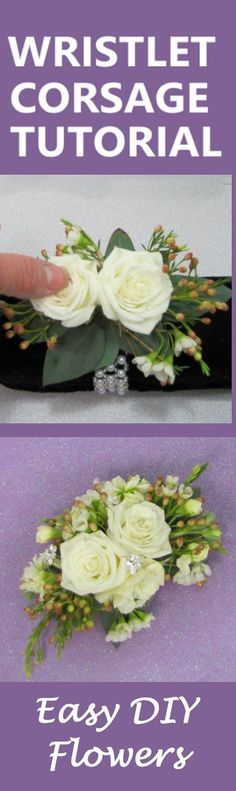 How to Make a Wrist Corsage - Free DIY Wedding Flower Tutorials  Learn how to make bridal bouquets, corsages, boutonnieres, reception table centerpieces and church decorations. Buy wholesale fresh flowers and discount florist supplies.