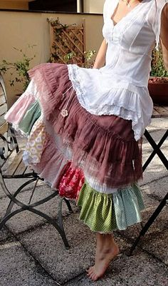 cute patchwork skirt.