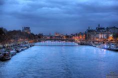 The Seine in Paris, France.