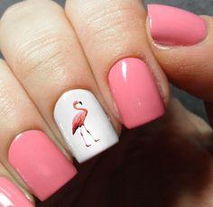 Flamingo Nail Art Decals #nailart