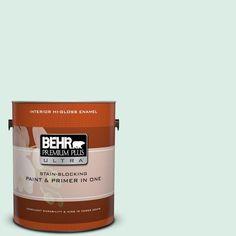 BEHR Premium Plus Ultra 1 gal. #M420-1 Sparkling Brook Hi-Gloss Enamel Interior Paint