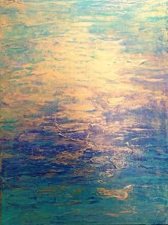Golden River by Haley, acrylic on canvas.