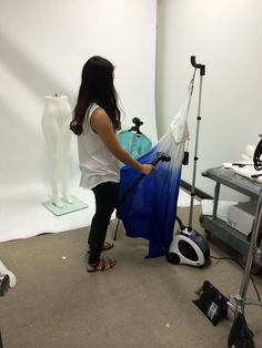 Behind the scenes on our flat lay shoot. Kuku