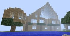 One of the cooler houses I built in Minecraft