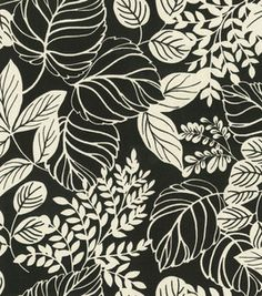 Home Decor Fabric-Waverly Terrarium Balck