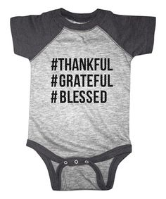 Another great find on #zulily! Heather Gray 'Hashtag Thankful' Bodysuit - Infant #zulilyfinds