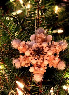 Perfect for the Wine Lovers Christmas Tree~~Wine Cork Snowflake, Snowflakes,Wine Corks, Wine Cork by CRdezines, $10.00