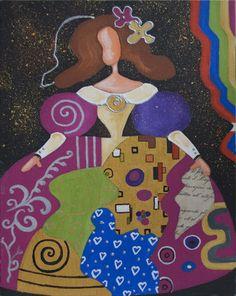 painted but inspiration for quilt... MENINA DE RAQUEL DE BOCOS