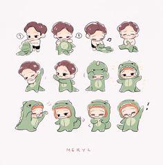 Exo's Chen Dinosaur FanArt