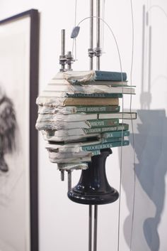South Africabased artist Wim Botha The artist creates sculpture installations out of government and religious texts reflecting on the human condition Altered Books, Altered Art, Instalation Art, 3d Studio, Art Sculpture, Cool Books, Human Condition, Magazine Art, Oeuvre D'art