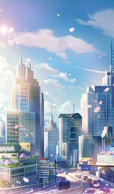 Wallpaper Animes, Wallpaper Space, Kawaii Wallpaper, Nature Wallpaper, Anime Backgrounds Wallpapers, Anime Scenery Wallpaper, Animes Wallpapers, Aesthetic Japan, City Aesthetic