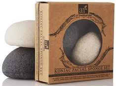 ArtNaturals Konjac Facial Sponge Set - 2 Pack (Charcoal Black & Natural White) - Natural Great for Sensitive, Oily & Acne Prone Skin - Beauty Facial Scrub for Gentle Deep Cleaning & Exfoliation Types Of Sponges, Amazon Christmas Gifts, Body Sponge, Pumice Stone, Facial Scrubs, Acne Prone Skin, Deep Cleaning, Beauty Routines, Beauty Skin