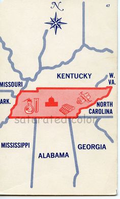 My first southern home was right in the middle of this state.