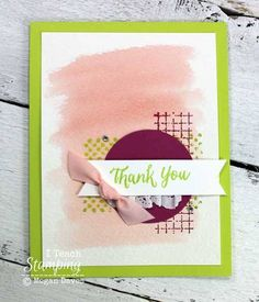 Stampin' Up! Cards   Card Making Ideas   Handmade Greeting Cards   Paper Crafts   Papercrafting Tips   Punch Art   Watercolor Techniques   How to add a watercolor splash background