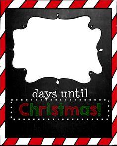 Days Until Christmas-Chalkboard Edition (Christmas Countdown Printable)