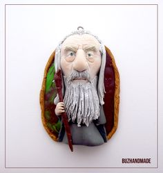 Gandalf the Gray - Lord of the rings - CLAY CHARM by buzhandmade.deviantart.com on @deviantART
