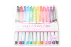 Pilot FriXion Colors Erasable Marker Pen - 12 Color Set, totally want for my scrap/journaling basket Moleskine, Gel Ink Pens, Jet Pens, Pencil And Paper, Marker Pen, Pen Sets, Painting For Kids, Children Painting, Gifts For Teens