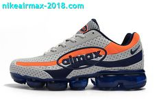 a2f606a20502 Nike Air Vapormax 95 KPU Mens Sport Shoes For Sale Gray Blue Orange
