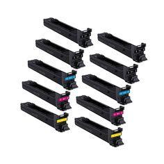N 2 Set + 2 BK Compatible A0DK132 A0DK432 A0DK332 A0DK232 Laser Toner Cartridge For QMS Magicolor 4650