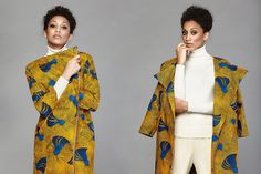 Easy to wear A/W African print collection Nigerian brand Asiyami Gold. Sadly for me the yellow print crepe duster style jacket is sold out, but the rest of the collection is to tie for. African Inspired Fashion, African Print Fashion, Africa Fashion, Fashion Prints, Fashion Art, Womens Fashion, African Prints, Fashion Ideas, African Textiles