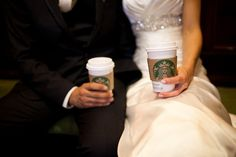 I would love to do this one after the ceremony and before the reception... because our lives together really started at starbucks <3