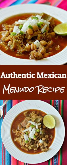 This Authentic Mexican Menudo Recipe is as Mexican as it gets and you will be surprised how good it is! This Authentic Mexican Menudo Recipe is as Mexican as it gets and you will be surprised how good it is! Authentic Mexican Recipes, Menudo Recipe Authentic, Mexican Soup Recipes, Seafood Recipes, Beef Recipes, Italian Recipes, Vegetarian Recipes, Cooking Recipes, Mexican Desserts