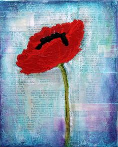 Donna Downey Paintings (I think I could make something like this! Mixed Media Journal, Mixed Media Collage, Art Journal Pages, Art Journals, Remembrance Day, Arte Floral, Art Classroom, Teaching Art, Altered Art