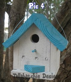 OFF TODAY Nautical Birdhouse Driftwood Collection Cottage Style Birdhouse, Cute colorful birdhouse, Beach Birdhouse, Nautical Birdhouse Bird Houses Painted, Fairy Garden Houses, Fairy Gardens, Backyard Birds, Reclaimed Barn Wood, House Painting, Rustic Style, Cottage Style, Nautical
