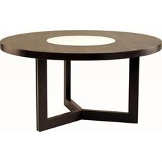 60 inch round dining table crackled glass lazy susan dark walnut finish silver detail on base comfortably seats up to six to eight guests sleek