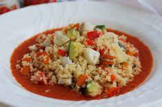 La Trappola Golosa : Cous cous allo zenzero e lime su salsa fredda alla...