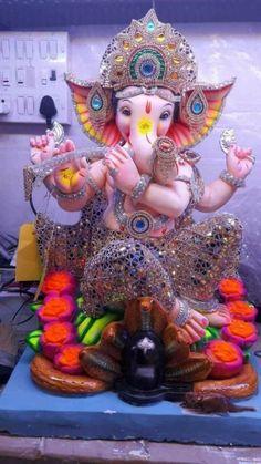 Jai Ganesh, Ganesh Lord, Ganesh Idol, Shree Ganesh, Ganesha Art, Shri Ram Photo, Ganesh Photo, Ganesh Chaturthi Decoration, Happy Ganesh Chaturthi Images