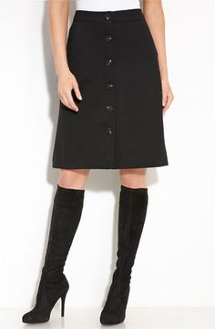 Button up pencil skirt