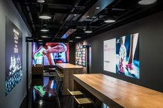 Prospace provided overall project management services and design of the public spaces in the new Shanghai showroom. Individual rooms show case the various shoe ranges as well as providing spaces for training and entertainment.