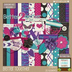 FREE Mandy's Lovable Designs: Designer Challenge - Better Together Mini Kit [ 2 parts ]