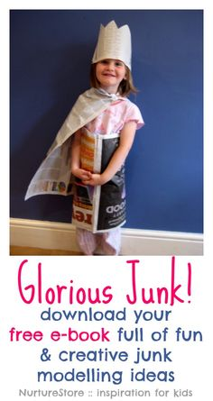A free kids craft ebook - download a copy of Glorious Junk! Full of ideas for creative play. | NurtureStore :: inspiration for kids