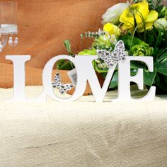 Love Sign with Butterflies - Perfect for Wedding Ceremony - Reception - Candy Buffet