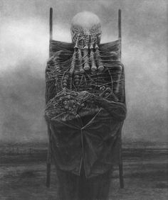 Artwork of Zdzisław Beksiński Arte Horror, Horror Art, Dark Artwork, Arte Cyberpunk, Dark Images, Macabre Art, Creepy Art, Dark Fantasy Art, Gothic Art
