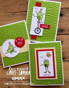Stampin' Up!- So Hoppy Together Mini Albums, Hand Stamped Cards, Kids Birthday Cards, Stamping Up Cards, Animal Cards, Creative Cards, Kids Cards, Cute Cards, Scrapbook Cards