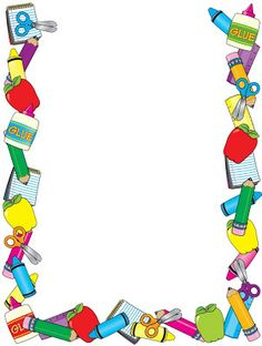 Printable Preschool Border Frame Printable A Clip Art Birthday With Preschool Border Frame Printable A Clip Art Birthday Cards For Kids Boarder Designs, Page Borders Design, Borders For Paper, Borders And Frames, School Border, School Frame, School Items, Paper Frames, Writing Paper