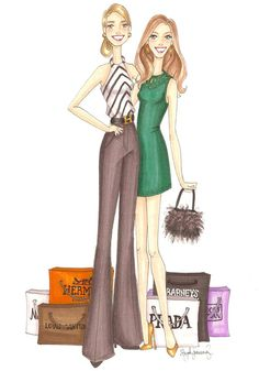 Shopaholic Custom Watercolor Fashion by StephanieJimenez on Etsy
