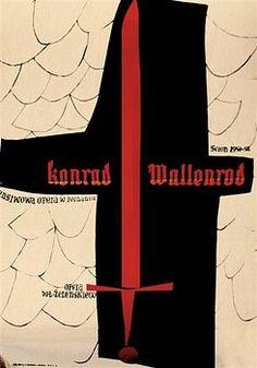 Zbigniew Kaja - KONRAD-WALLENROD-1957 poster art from Poland