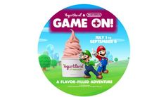 """Nintendo partners with Yogurtland for new, limited-time flavors like """"Mario's Chocolate Gelato"""" and """"Toad's Rocky Road."""""""
