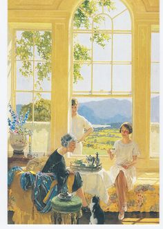 James Durden, 1925 Having Tea