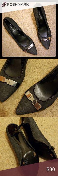 Nine West Silver Buckle Heels. #shopmycloset #poshmark #fashion #shopping #style #forsale #Nine West #Shoes