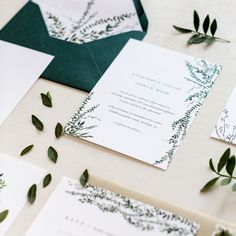 """White Willow Paper Co. on Instagram: """" Who else is addicted to greenery? ♀️ This set is perfect for a minimalist, simple and botanical event! BONUS: these tiny tiny leaves…"""""""
