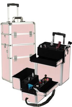 Vanity Suitcase With Lights Mobile Professional Studio Makeup Case Wlight  Pretty Cool