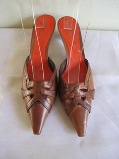 Prada Leather Uppers Leather Soles BRITISH TAN Mules