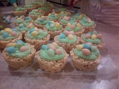 Cute Rice Crispy Easter Nests with mini eggs!